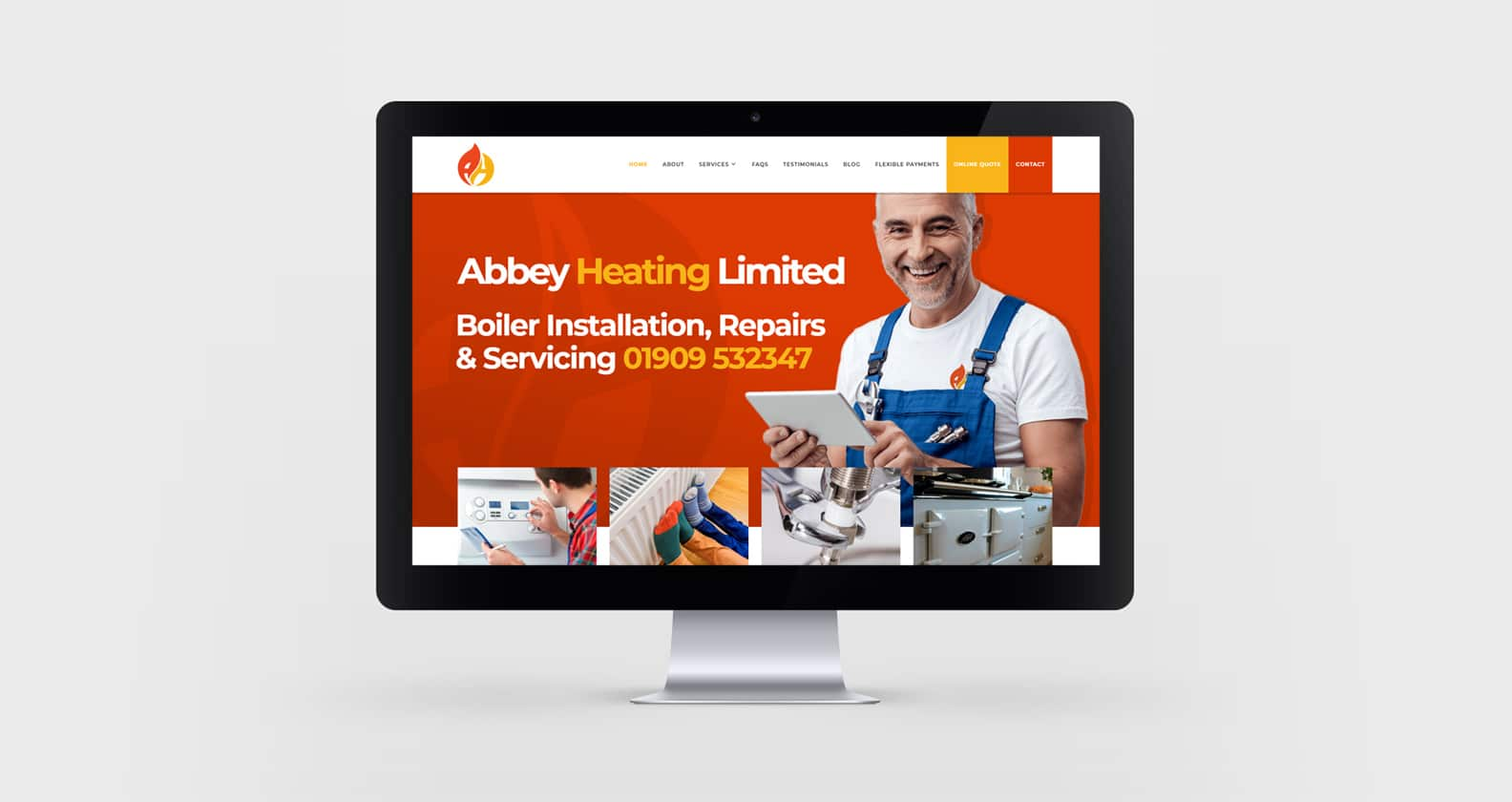 Abbey Heating Website Design
