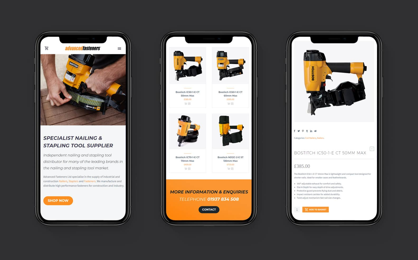 Advanced Fasteners - Responsive and Mobile Friendly Website Design
