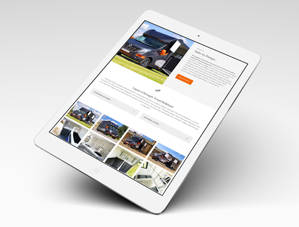 Horsebox Product Page - iPad Landscape