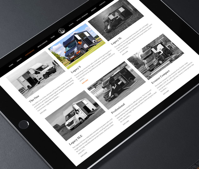 Horsebox Product Enquiry Selection - iPad
