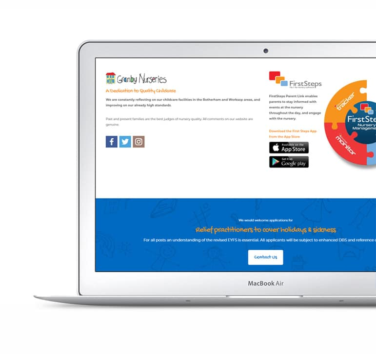 Clean and Colorful Website Design