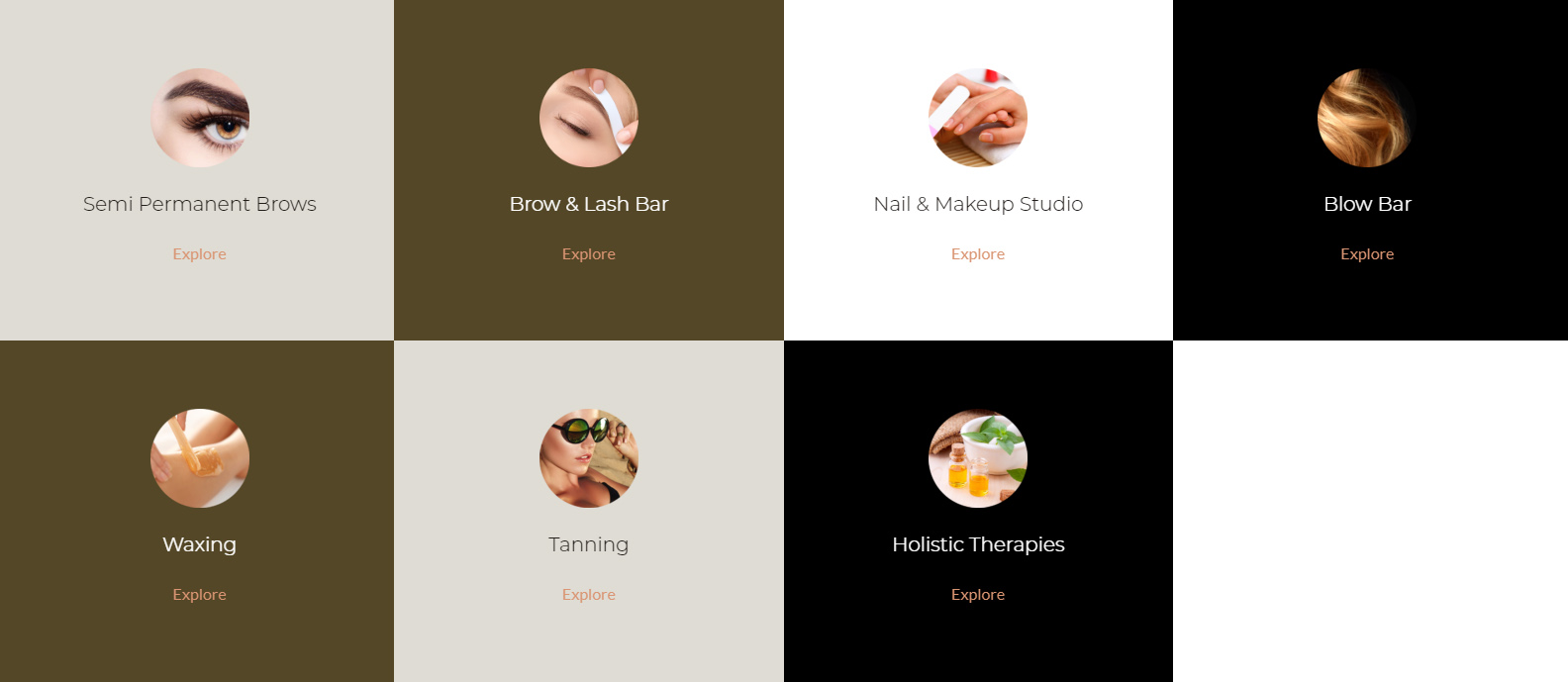 Interactive Treatment Highlight Sections