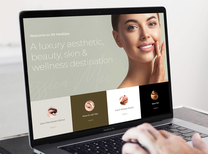 JM Medispa - Website Design Project by Outhouse Media