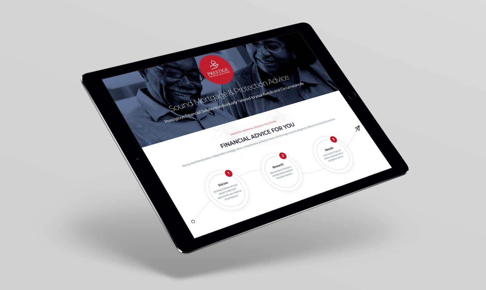Web Design Project for Prestige Financial Solutions in Dinnington