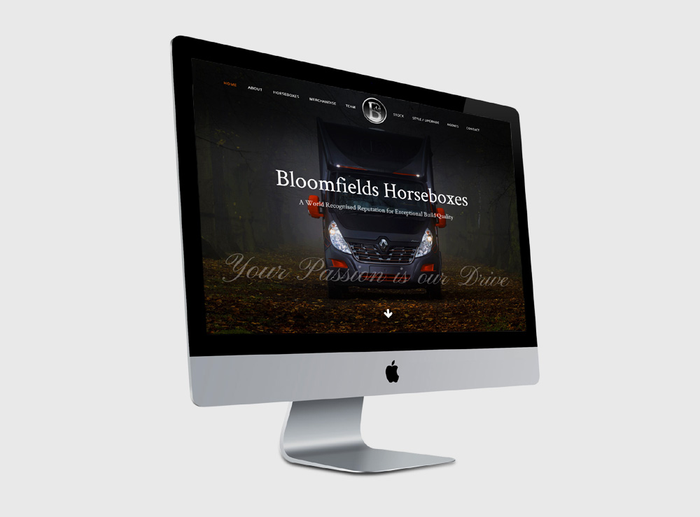 Web Design Project for Bloomfields Horseboxes