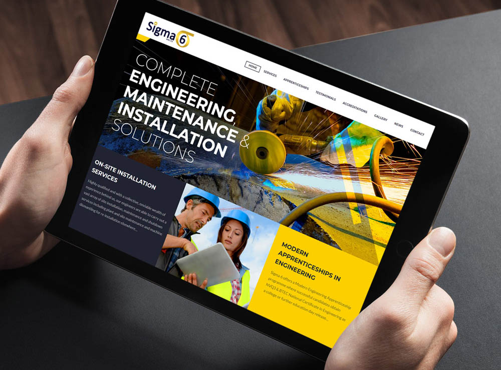 Web Design Project for Sigma 6