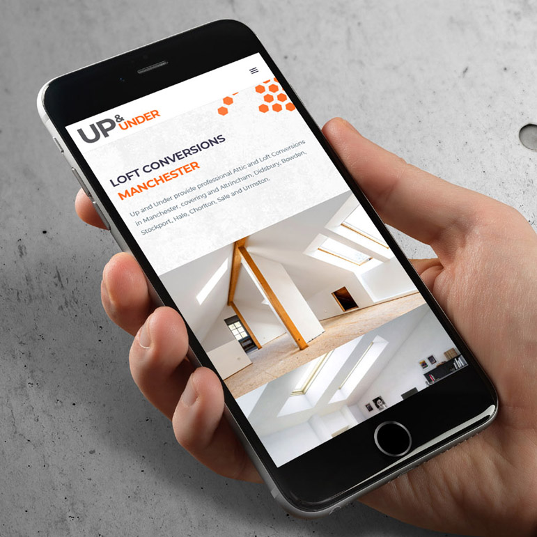 Responsive Up and Under Website - iPhone