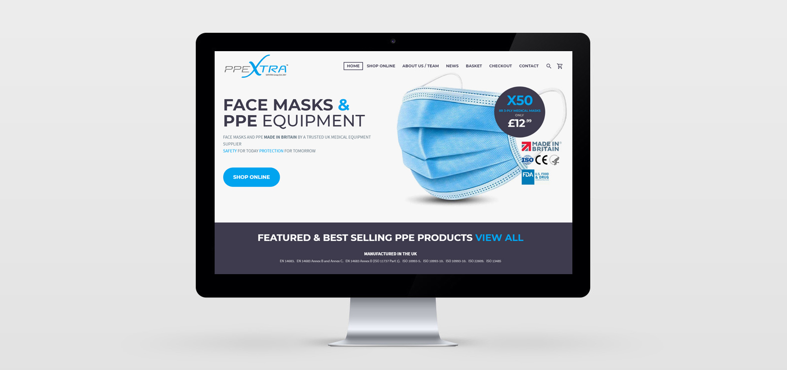Doncaster eCommerce Website Development project for PPEXtra